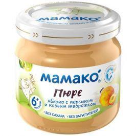 Пюре Мамако Яблоко, персик и козий творожок с 6 мес. 80 г