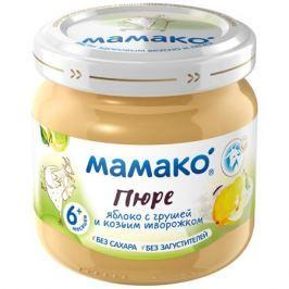 Пюре Мамако Яблоко, груша и козий творожок с 6 мес. 80 г