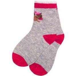 Носки для девочки Barkito, 3 пары, белые с рисунком, розовые с рисунком, серые с рисунком