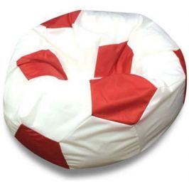 Кресло DreamBag «Мяч» белый с красным