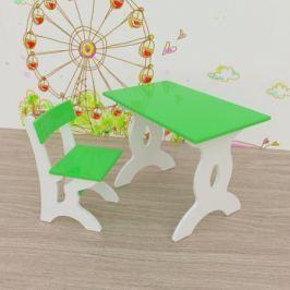 Комплект мебели Малина стол 40x67 см и стул зеленый