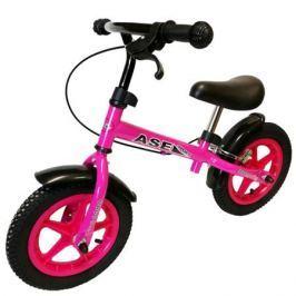 Беговел Ase-sport «Ase-Balance bike M5» c ручным тормозом pink