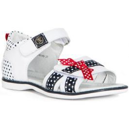 Туфли летние для девочки Barkito, бело-синий