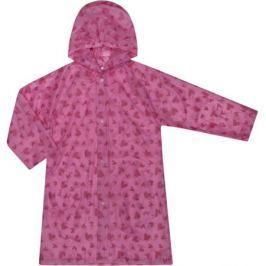 Плащ-дождевик для девочки Barkito, розовый с рисунком