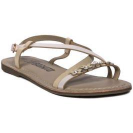 Туфли летние для девочки Barkito, золотой
