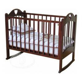 Кроватка Красная звезда (Можга) «Любаша» С635 колесо/качалка шоколад