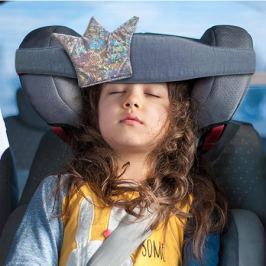 Повязка для сна в автокресле Клювонос «Принцесса» серебро