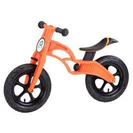 Беговел Pop Bike «Flash» c надувными колесами оранжевый
