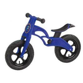 Беговел Pop Bike «Flash» с надувными колесами синий