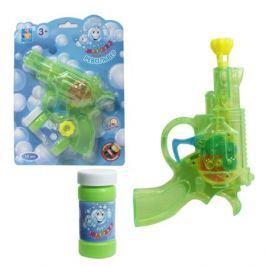 Пистолет механический с мыльными пузырями 1TOY бутылочка 50 мл