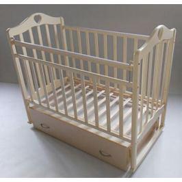 Кроватка Антел «Каролина-4» попереч. маятник, ящик слоновая кость