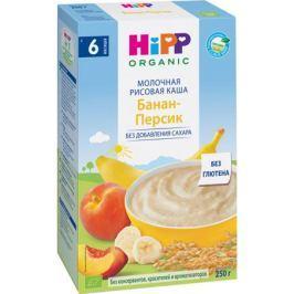 Каша молочная Hipp рисовая с бананом и персиком с 6 мес. 250 г