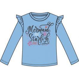 Футболка с длинным рукавом для девочки Barkito «Морские звезды», голубая