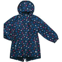Куртка для девочки Barkito, темно-синяя с рисунком «горох»