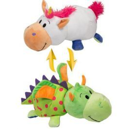 Мягкая игрушка 1toy «Вывернушка. Единорог-Дракон» 35 см