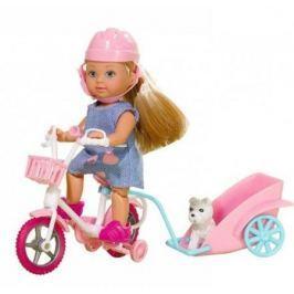 Кукла Simba «Еви на велосипеде с собачкой» 12 см в ассортименте