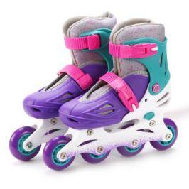 Коньки роликовые Moby Kids (30-33) раздвижные фиолетовые