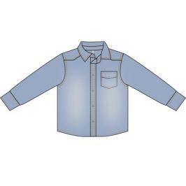 Сорочка с длинным рукавом для мальчика Barkito «Деним», голубая