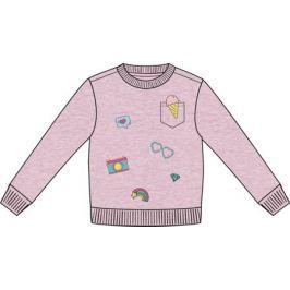 Джемпер модель «толстовка» для девочки Barkito «Сладкоежка-1», розовый