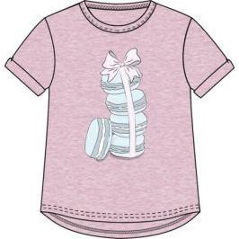 Футболка с коротким рукавом для девочки Barkito «Сладкоежка-2», розовая