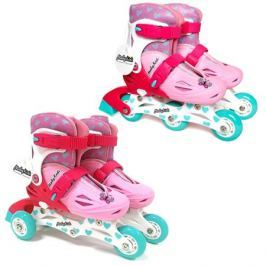 Коньки роликовые Moby Kids 2в1, розовые, р.26-29