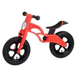 Беговел Pop Bike «Flash» c надувными колесами красный