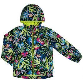 Куртка для девочки Barkito, темно-синяя с рисунком