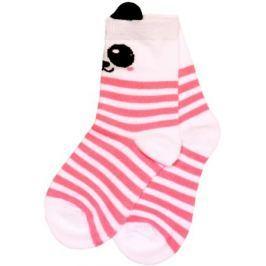 Носки для девочки Barkito, белые с рисунком
