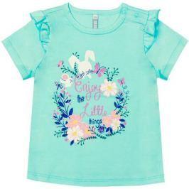 Блузка с коротким рукавом для девочки Barkito «Нежность», мятная