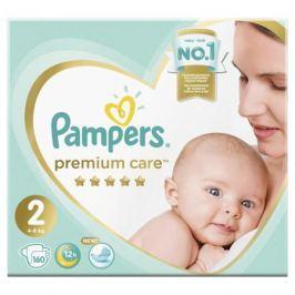 Подгузники Pampers Premium Care New Baby 2 (4-8 кг) 160 шт.