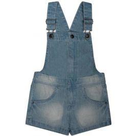 Шорты джинсовые с лямками и нагрудником для девочки Barkito «Деним», голубые