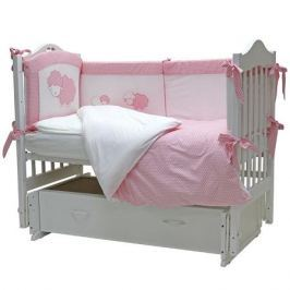 Комплект в кроватку Топотушки «Агата» 6 пр. розовый