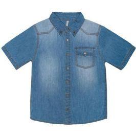 Сорочка с коротким рукавом для мальчика Barkito «Деним», голубая