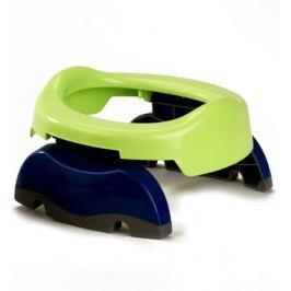 Дорожный набор Potette Plus «Горшок складной и одноразовые пакеты», зеленый/голубой