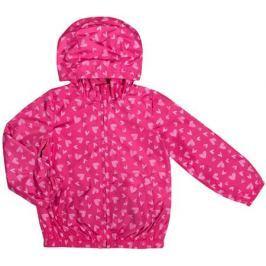 Куртка для девочки Barkito, фуксия с рисунком «сердечки»