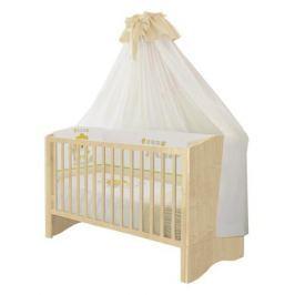 Кроватка Polini «Simple 140х70» натуральный