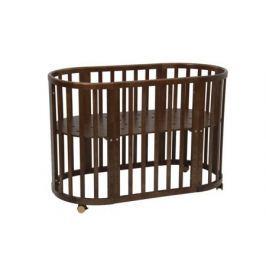 Кроватка-трансформер Polini «Simple 910» овальная дуб