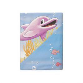 Комплект постельного белья Облачко «Дельфины» простынь на резинке