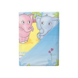 Комплект постельного белья Облачко «Слоники» простынь на резинке