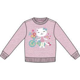 """Джемпер модель """"толстовка"""" для девочки Barkito """"Мартовские коты"""", розовая"""