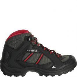 Женские Ботинки Для Пеших Прогулок Arpenaz 50 Mid - Черные/розовые