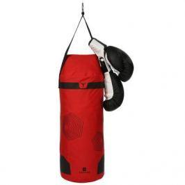 Набор Для Бокса Для Начинающих Дет.: Красный Боксёрский Мешок + Чёрные Перчатки
