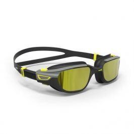 Очки Для Плавания Spirit Размер L Черно-серые Зеркальные