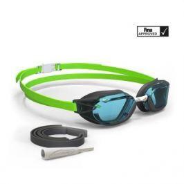 Очки Для Плавания B-fast - Чёрные Светло-зелёные