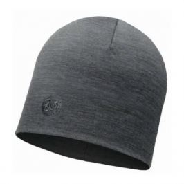 Buff Heavyweight Merino Wool Hat Solid Grey