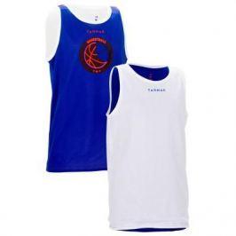 Детская Двухсторонняя Майка Для Баскетбола, Уровень: Продолжающий, Синяя Белая