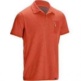 Рубашка–поло С Короткими Рукавами Travel 100 Мужская Красная
