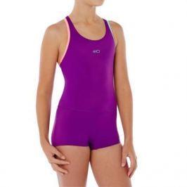 Купальник Для Девочек Сплошной (шорты) Фиолетовый
