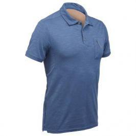 Рубашка–поло С Короткими Рукавами Travel 100 Мужская Синяя