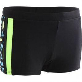 Плавки–боксеры Для Мальчиков 500 Yoke Allroc Черно-зеленые